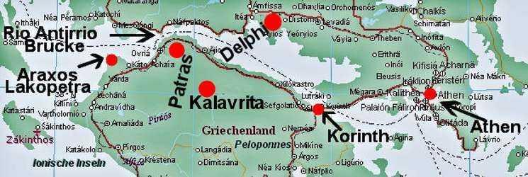 Griechenland Peloponnes Karte Deutsch.Halbinsel Peloponnes Lakopetra 1997